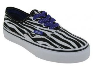 VANS AUTHENTIC (ZEBRA) SKATE SHOES 11 (BLACK/LIBERTY PURPLE) Shoes