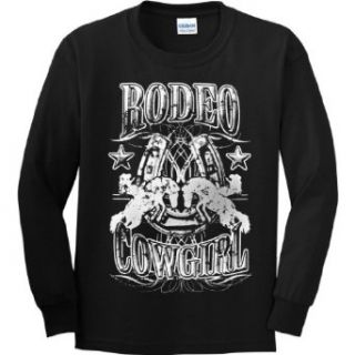 YOUTH LONG SLEEVE T SHIRT  BLACK   MEDIUM   Rodeo Cowgirl