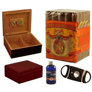 Cuban Combo 25 cigar & Humidor Set