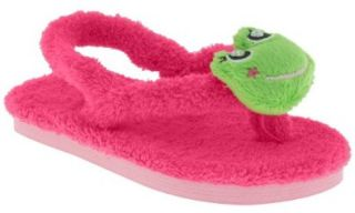 Backstrap And Fancy Froggy Pom Toddler Girls Flip Flop Pink 4/5 Shoes