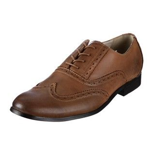 Original Penguin Mens Wingtip Tan Leather Oxfords