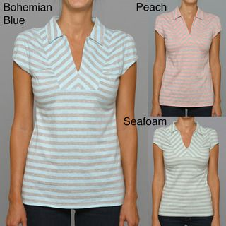 Union Bay Womens V neck Striped Shirt (Pack of 3)