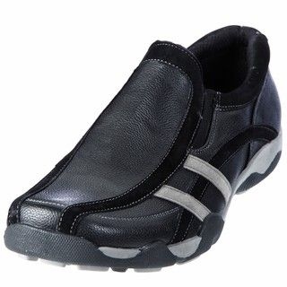 Deer Stags Mens Pacer Black Sporty Slip on Shoes
