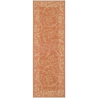 Safavieh Terracotta/ Natural Indoor Outdoor Rug (22 x 14