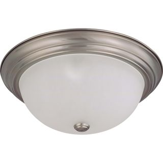 Nuvo Interior Home 3 light Brushed Nickel Flush Mount Fixture