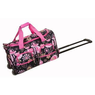 Rockland Deluxe 22 inch Flower Carry On Rolling Duffel Bag