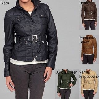 Last Kiss Womens Faux leather Jacket