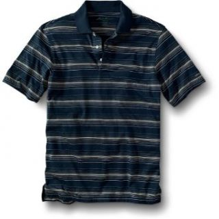 Eddie Bauer Ombre Stripe Jersey Polo Shirt, Washed Navy
