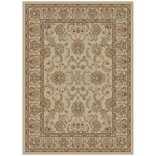 Oriental Ankara Collection Oushak Beige Area Rug (53 x 73