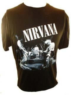 Nirvana (Kurt Cobain) Mens T Shirt   Black and White Band