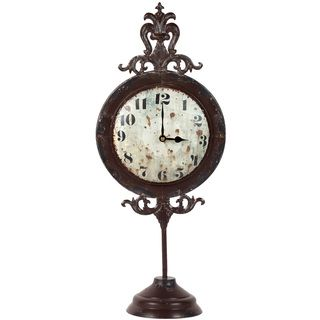 Urban Trends Collection Antique Metal Table Clock