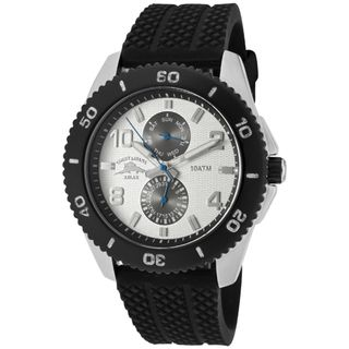 Tommy Bahama Relax Mens Sail Away Black Textured Silicone Watch