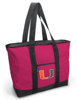 University of Miami Pink Tote Bag UM Logo   For Travel or