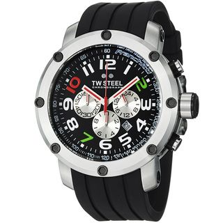 TW Steel Mens GrandeurTech Black Dial Chronograph Strap Watch