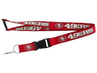 NFL San Francisco 49ers Red Lanyard with Detachable