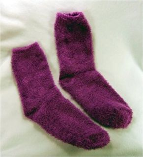 Light Purple Fuzzy Socks Clothing