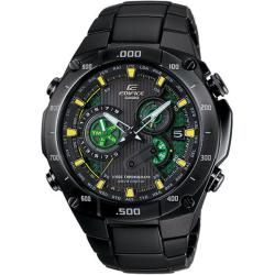 Casio Mens Edifice Black Label Solar Power Atomic Chronograph Watch