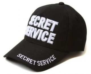 Black Low Profile Secret Service Text Style Hat Clothing
