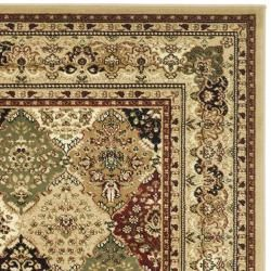 Lyndhurst Collection Multicolor/ Beige Rug (4 x 6)