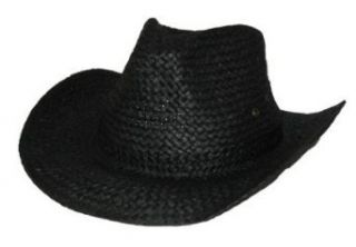 Black Straw Cowboy Hat Clothing