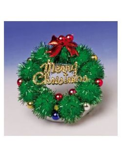 Festive 2.5 Light Up LED Christmas Wreath Brooch Pin