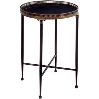 Argento Round Black Accent Table Today $135.99 4.3 (7 reviews)