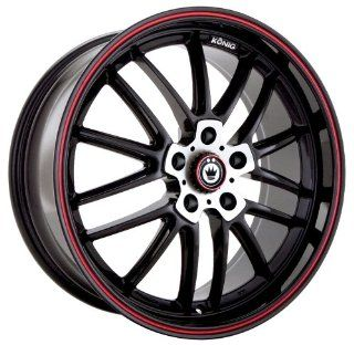 Konig Again 5 Gloss Black Wheel with Machined Red Stripe (17x8/5x114