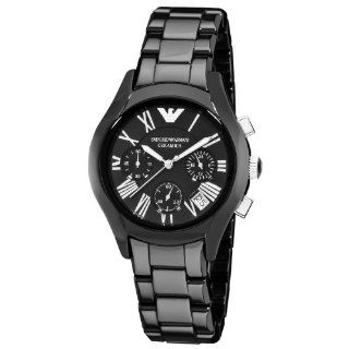 Emporio Armani Womens AR1401 Ceramic Black Chronograph Dial Watch