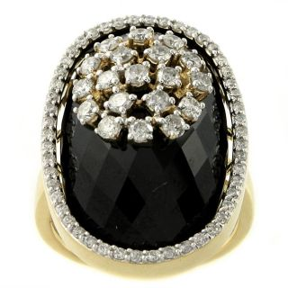 Beverly Hills Charm 14k Yellow Gold Black Onyx and 1ct TDW Diamond