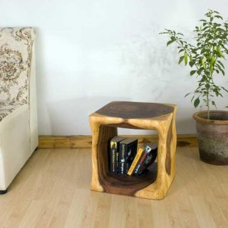 Monkey Pod Wood 16 inch Cube End Table (Thailand) Today $189.99 5.0