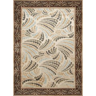 Bella Casa Indoor/ Outdoor Fanned Geometric Area Rug (49 x 66