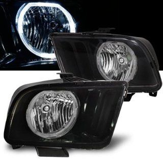 05 09 Ford Mustang Halo Angel Eyes Headlights   Black