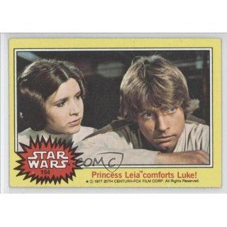 Leia comforts Luke (Trading Card) 1977 Star Wars #154