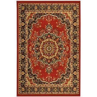 Paterson Collection Oriental Medallion Red Area Rug (79 x 910