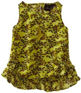 Baby Phat   Kids Girls 2 6X Printed Chiffon High Low Tank