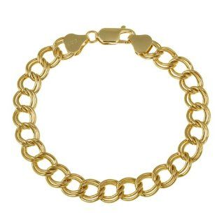 18k Yellow Gold Plated Sterling Silver Double Link Chain