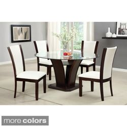 Gale 5 piece Two tone Glass and Cherrywood Dining Set Today $938.99