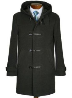 Vince Mens Toggle Overcoat XX Large Hood Olive Green