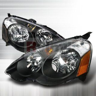 Acura RSX 2002 2002 2003 2004 2005 Euro Headlights   Black