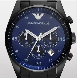 Emporio Armani Blue Dial Chronograph Mens Watch AR5921 Watches