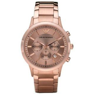 Emporio Armani Stainless Steel Pink Dial Mens Watch   AR2452 Watches