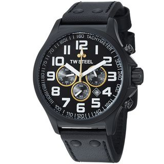 TW Steel Mens LutosF1Team Black Dial Chronograph Quartz Watch