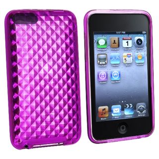 BasAcc Purple Diamond TPU Case for Apple iPod Touch Generation 2/ 3