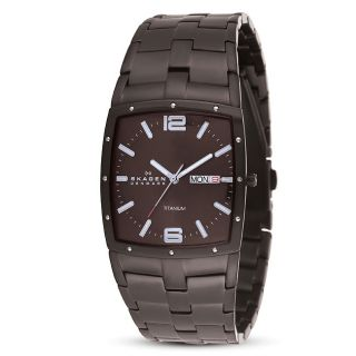 Skagen Mens Titanium Espresso Slim Dress Watch
