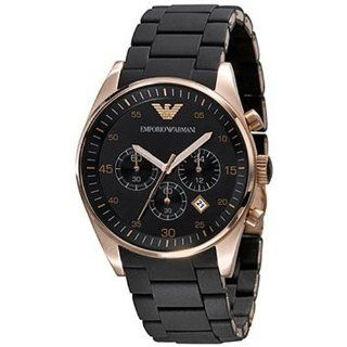 Armani Chronograph Bracelet Black Dial Mens Watch   AR5905 Watches