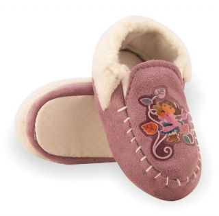 Toddler Girls Lilac Faux Suede Moccasin Slippers   Sz 5/6 Shoes