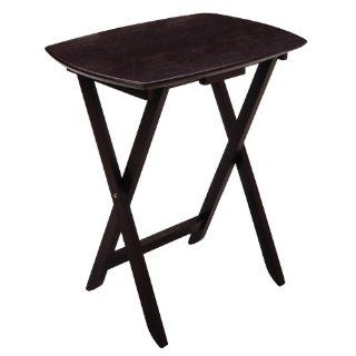 Winsome Wood Single Oversized TV Tables, Oblong, Espresso