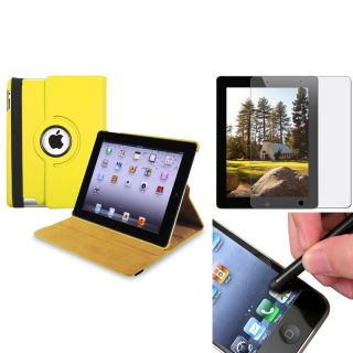 Yellow Case/ Anti glare Screen Protector/ Stylus for Apple® iPad 3