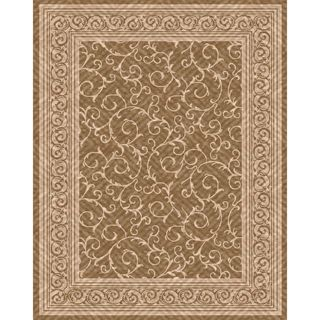 Woven Indoor/ Outdoor Patio Rug Meadow Light Brown/ Beige Rug (79 x