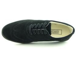 Generic Surplus Mens Black Wing tip Sneakers
